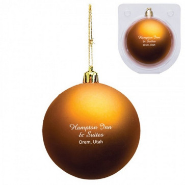 Custom Christmas Ornament - Shatterproof - Orange