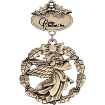 Angel Dangling from Imprintable Plate Ornament