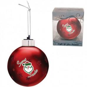 Custom Christmas Ornaments - Light-Up Glass Ornament