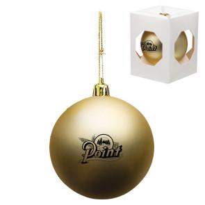 Custom Christmas Ornament - Shatterproof - Gold