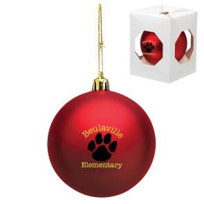 Custom Christmas Ornament - Shatterproof - Red