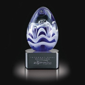Astral Art Glass Award on Black Base - 4.5 in. High