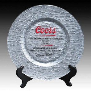 Deerfield Award Plate - 13 in. Silver