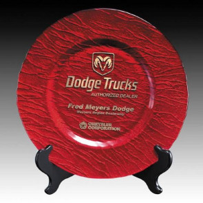 Deerfield Award Plate  - 13 in. Red
