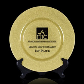 Granby Award Plate  - 13 in. Gold
