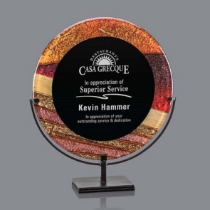 "Baldridge Acrylic  Award - Autumn/Black 18"" H"