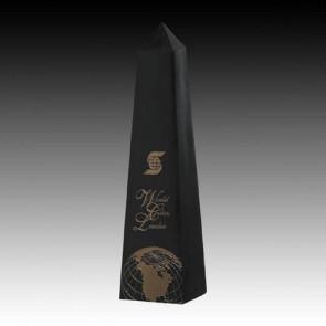 Black Marble Obelisk Award 16 in.
