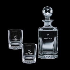 Bainbridge Decanter and 2 On-the-Rocks