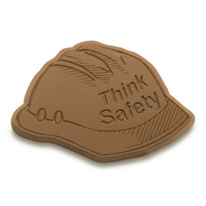 Think Safety Chocolate Hard Hat - Stock No Logo