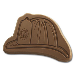 Chocolate Shape Fireman Hat - Stock No Logo