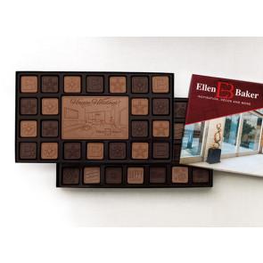 Chocolate Assortment with Custom Border 45pc