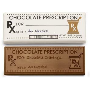 Chocolate Prescription Wrapper Bars - Stock