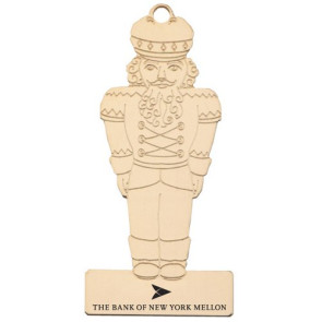 Nutcracker Shaped Tree Ornament with Imprint