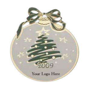 Goldtone Christmas Ball Shaped Ornament