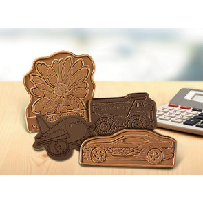 Custom Chocolate Shape in Gift Box with Clear Lid