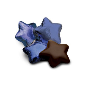 Chocolate Stars in Blue Foil-Dark - Stock