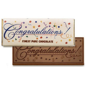 Congratulations Chocolate Wrapper Bars