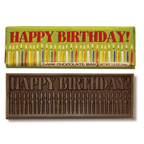 Happy Birthday Wrapper Bars-Dark Chocolate
