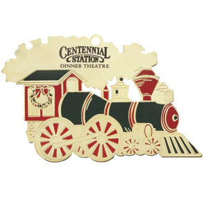 Train Ornament with Colored Accents with Imprint