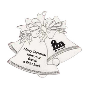 Silver Bell Shape Ornament with Imprint