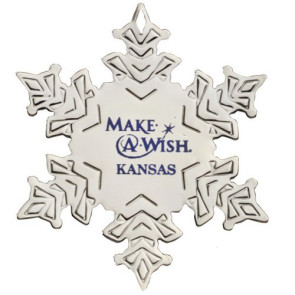 Silver Snowflake Shape Ornament with Imprint