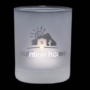 Evaton Frosted Candleholder - 2.5 in. Small