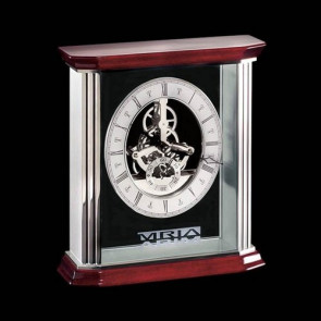 Barwick Mantle Clock - Rosewood/Aluminum