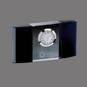 Atlanta Clock - Optical Crystal with Black 5.5 in. Wide