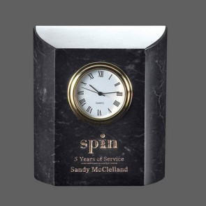 Ajax Clock - Marble Black
