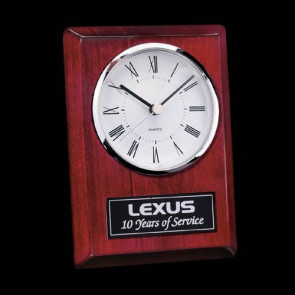 Alexis Clock - Rosewood/Chrome