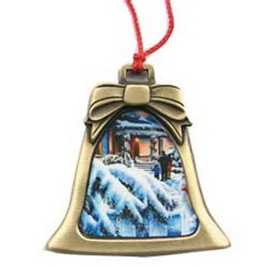 Metal Bell Shape Christmas Ornament with Custom Photo Art
