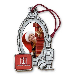 Tin Soldier Oval Photo Insert Ornament with Imprint