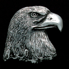 Eagle Head Pewter Accent