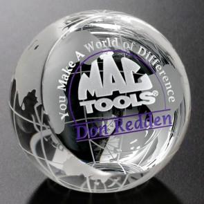 Clipped Globe Award 2-3/8 in. Dia.