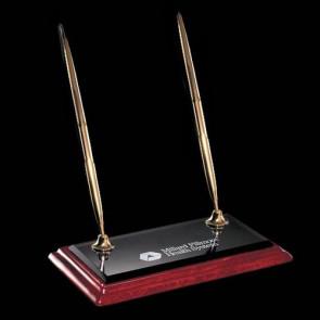Albion Double Pen Set - Gold