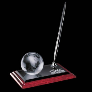Globe on Albion Pen Set - Chrome