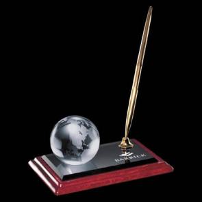 Globe on Albion Pen Set - Gold