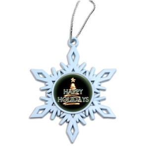 White Snowflake with Custom Full Color Domed Imprint