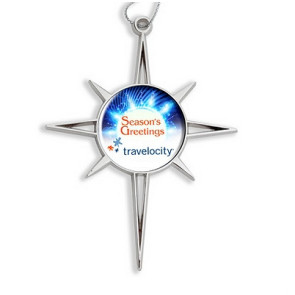 Star of Bethlehem Die Cast Ornament with Full Color Imprint