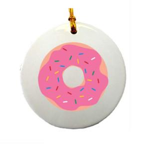 Round Ceramic Ornament with Full Color Imprint