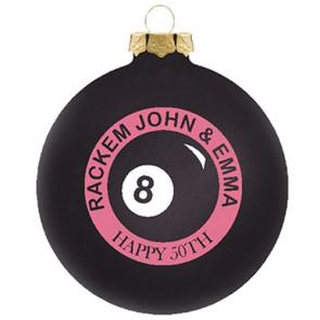 Customized Glass Christmas Ornaments Black