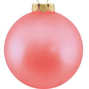 Customized Glass Christmas Ornaments -Pink Ornament