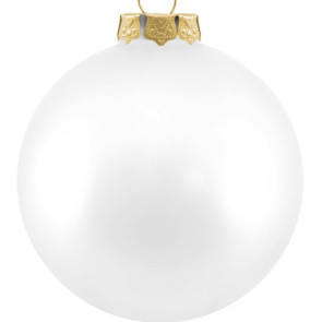 Customized Glass Christmas Ornaments - White Ornament