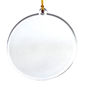 Acrylic Suncatcher Ornament Round Circle with Imprint