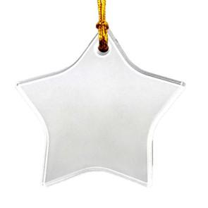 Clear Acrylic Star Ornament Suncatcher with Imprint