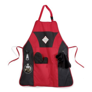 Grill Master Apron Kit Red