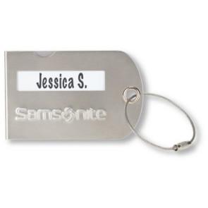Samsonite Luggage Tag Silver