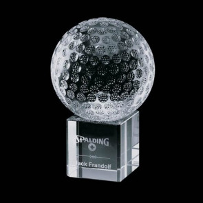 Bellevue Optical Crystal Golf Award - Optical 2-3/8 Diam