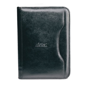 Deluxe Executive Vintage Leather Padfolio - Black