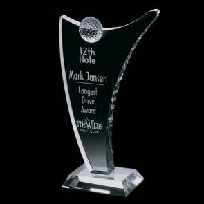 Bannatyne Crystal Golf Award - Optical 10 in.